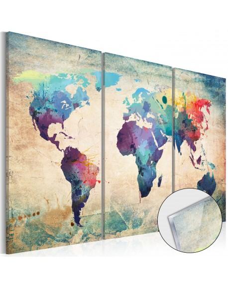 Akrilni tisk Rainbow Map [Glass]