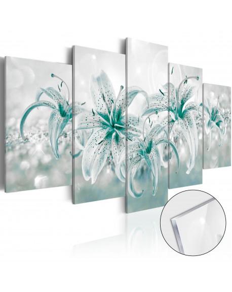 Akrilni tisk Sapphire Lilies [Glass]