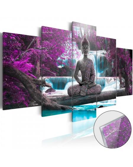 Akrilni tisk - Waterfall and Buddha [Glass]