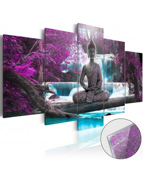 Akrilni tisk Waterfall and Buddha [Glass]