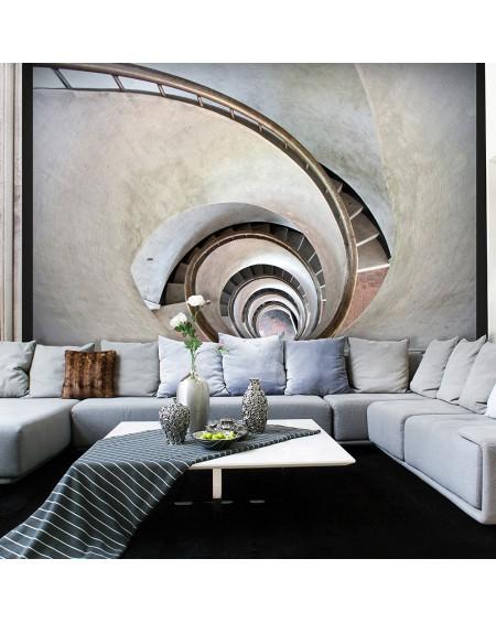 Stenska poslikava - White spiral stairs