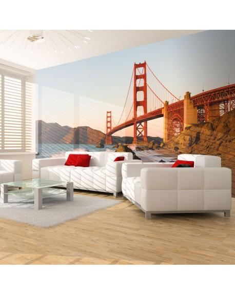 Stenska poslikava Golden Gate Bridge sunset, San Francisco