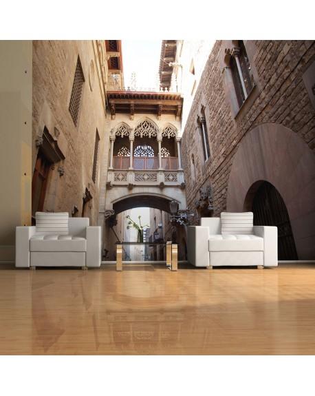 Stenska poslikava Barcelona Palau generalitat in gothic Barrio