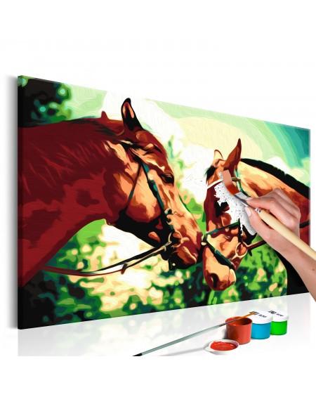 Platno za samostojno slikanje Two Horses