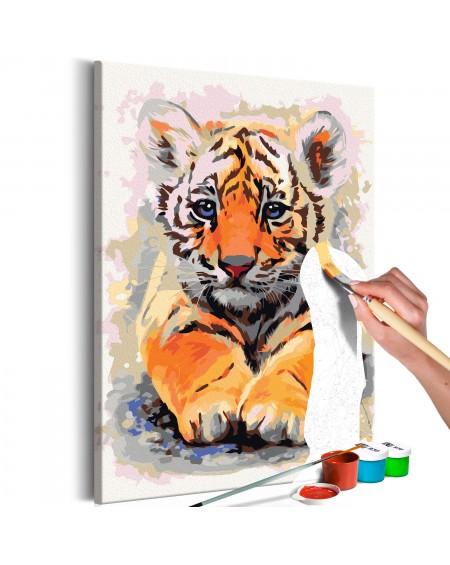 Platno za samostojno slikanje Baby Tiger