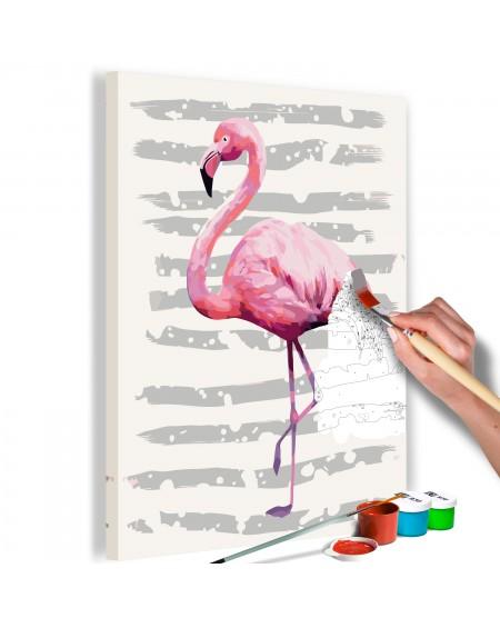 Platno za samostojno slikanje Beautiful Flamingo