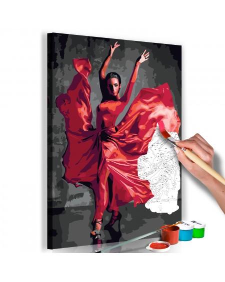 Platno za samostojno slikanje Red Dress