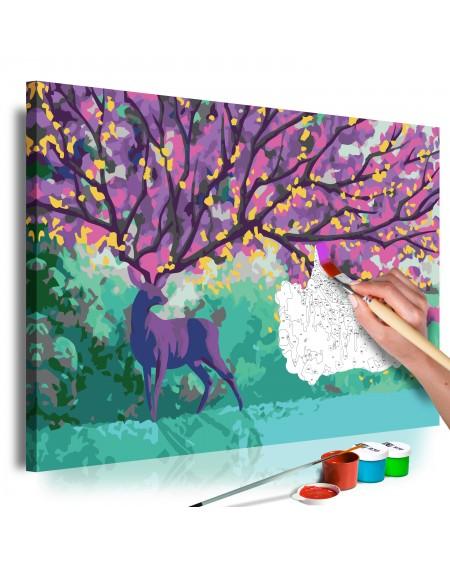 Platno za samostojno slikanje Purple Deer