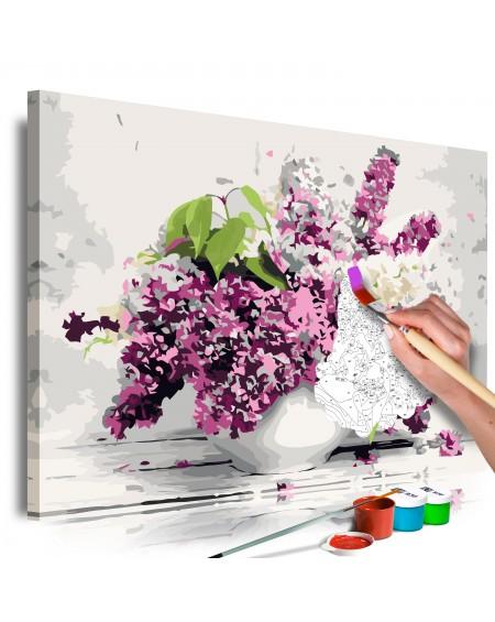 Platno za samostojno slikanje Vase and Flowers