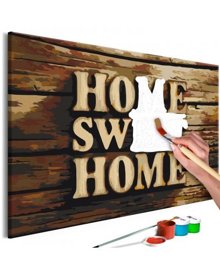 Platno za samostojno slikanje Wooden Home