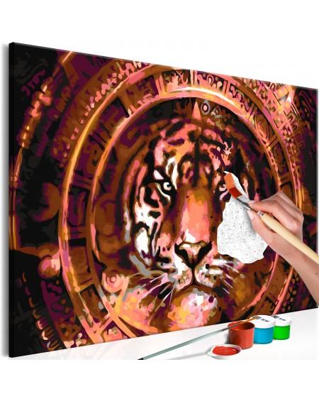 Platno za samostojno slikanje Tiger and Ornaments