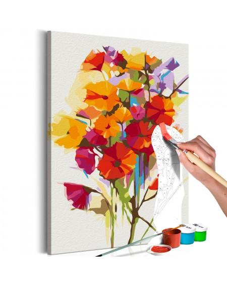 Platno za samostojno slikanje Summer Flowers