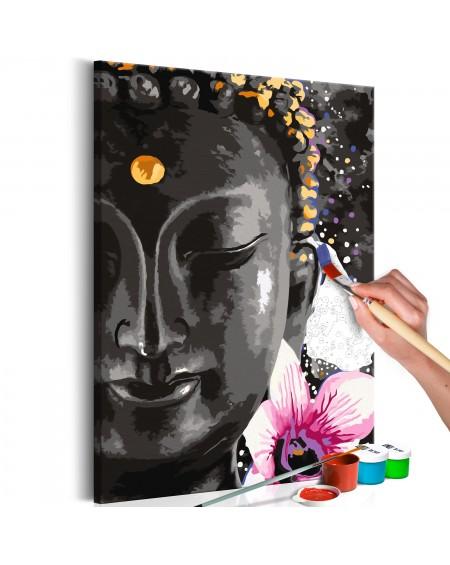 Platno za samostojno slikanje Buddha and Flower