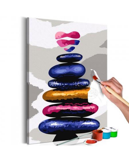 Platno za samostojno slikanje Colored Pebbles