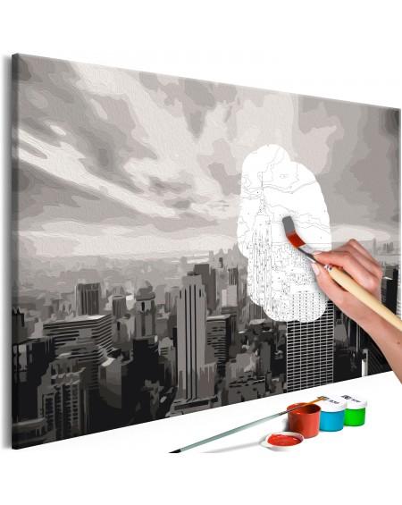 Platno za samostojno slikanje Grey New York