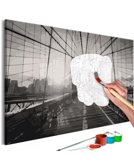 Platno za samostojno slikanje New York Bridge