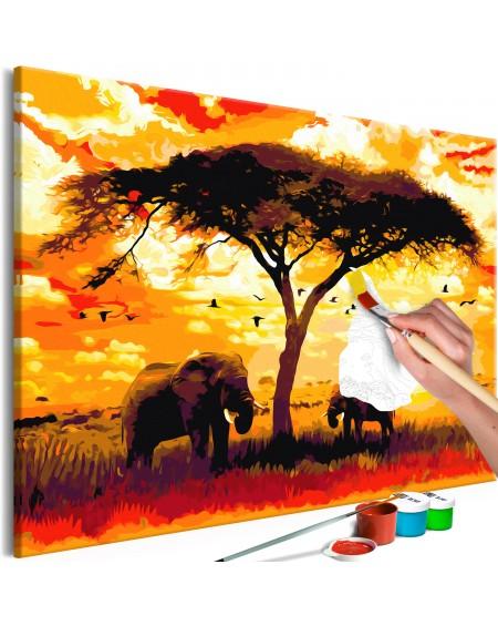 Platno za samostojno slikanje Africa at Sunset