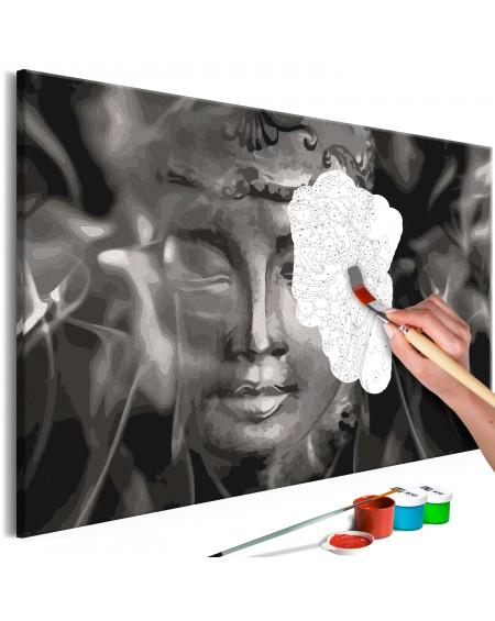 Platno za samostojno slikanje Buddha in Black and White