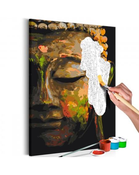 Platno za samostojno slikanje Buddha in the Shade