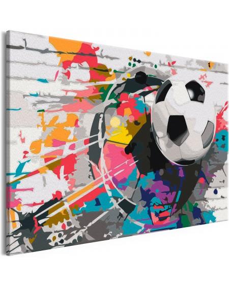 Platno za samostojno slikanje Colourful Ball