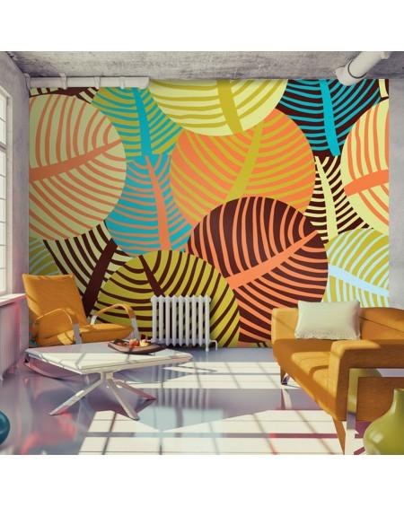 Stenska poslikava - collage: leaves