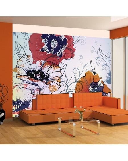 Stenska poslikava - A delicate flower motif