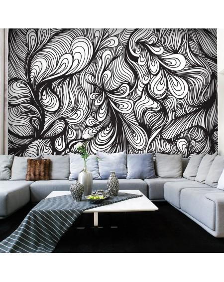 Stenska poslikava - Black and white retro style