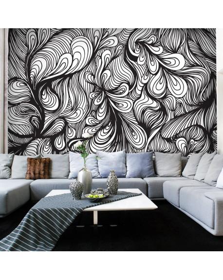 Stenska poslikava Black and white retro style