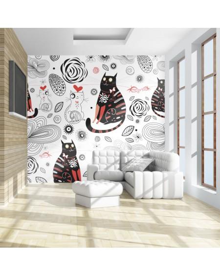 Stenska poslikava - Cats in love