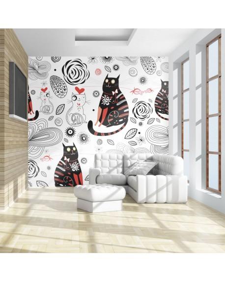 Stenska poslikava Cats in love