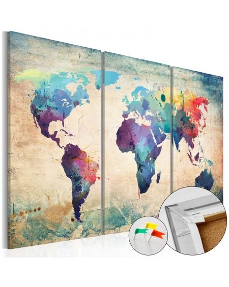 Pinboard - Rainbow Map [Cork Map]