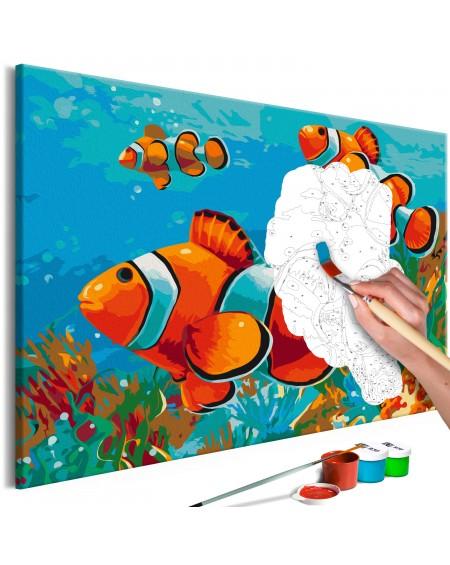 Platno za samostojno slikanje Gold Fishes