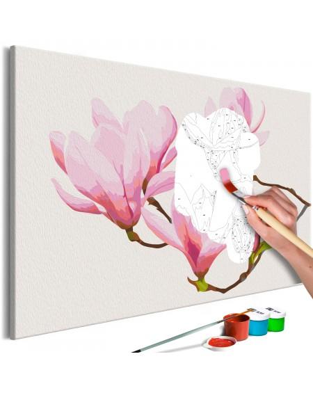 Platno za samostojno slikanje Floral Twig