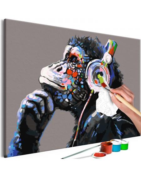 Platno za samostojno slikanje Musical Monkey