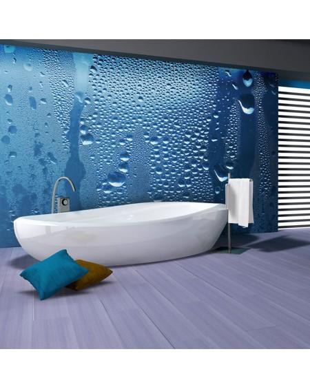 Stenska poslikava - Water drops on blue glass