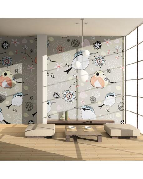 Stenska poslikava Natural pattern with birds