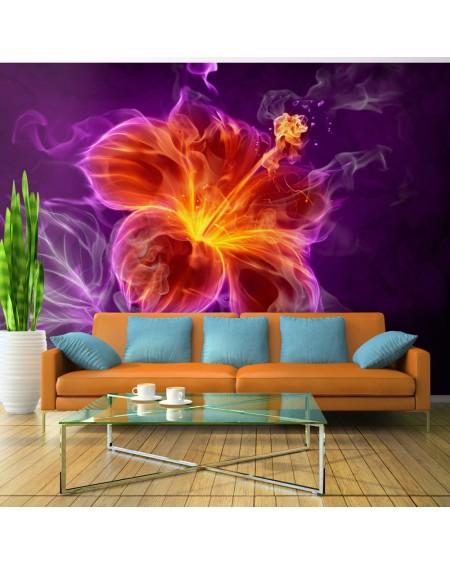 Stenska poslikava Fiery flower in purple