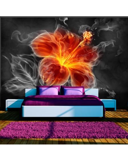 Stenska poslikava Fiery flower inside the smoke