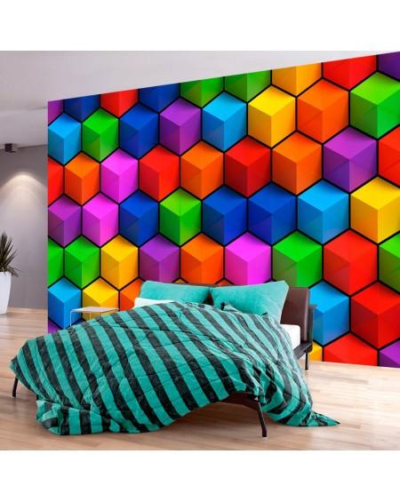 Stenska poslikava Colorful Geometric Boxes