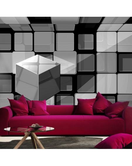 Stenska poslikava Rubiks cube in gray