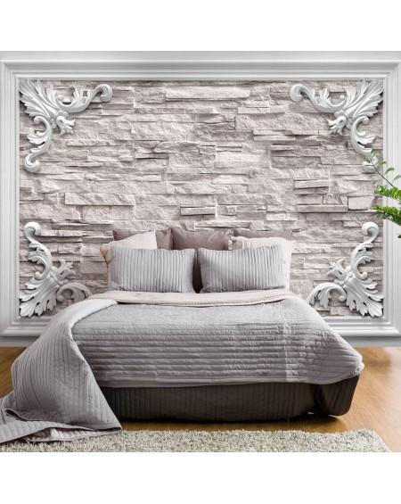 Stenska poslikava Brick in the Frame (Beige)