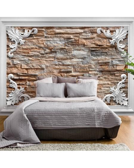 Stenska poslikava Brick in the Frame (Brown)
