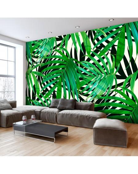 Stenska poslikava Tropical Leaves