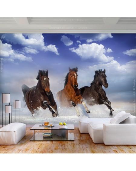 Stenska poslikava Horses in the Snow