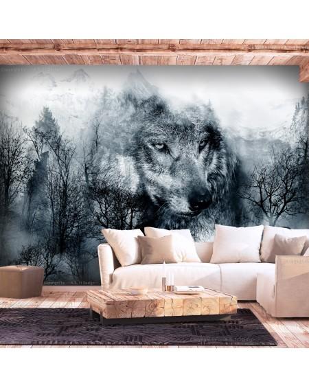 Stenska poslikava Mountain Predator (Black and White)
