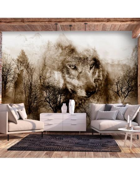 Stenska poslikava Mountain Predator (Brown)
