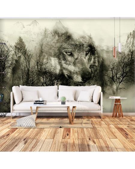 Stenska poslikava Mountain Predator (Beige)