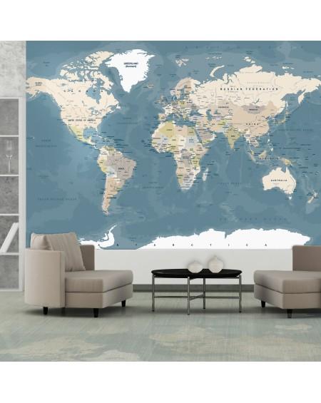Stenska poslikava Vintage World Map