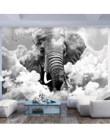 Stenska poslikava Elephant in the Clouds (Black and White)