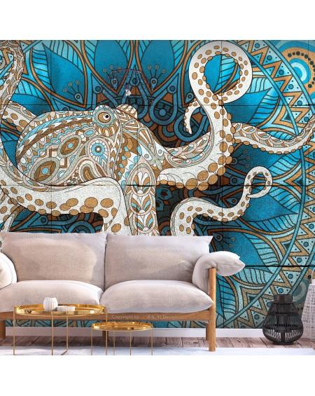 Stenska poslikava - Zen Octopus